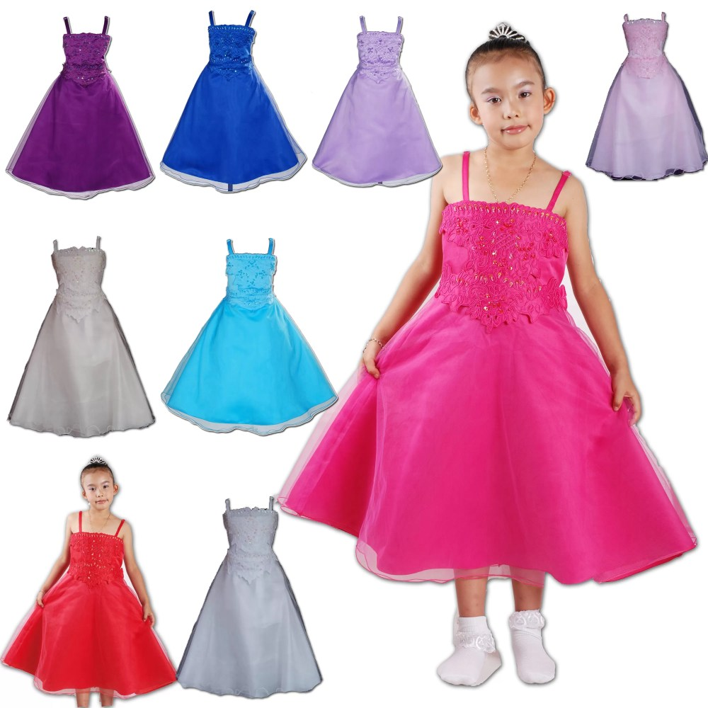 Bridesmaid Dress Flower Girl Party Dress 5 6 7 8 9 10 11 12 Years