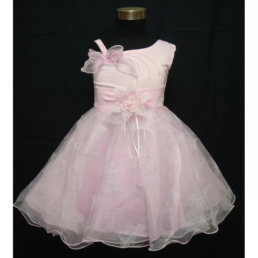 Flower Girl Party Dress Pink Lilac White 6538