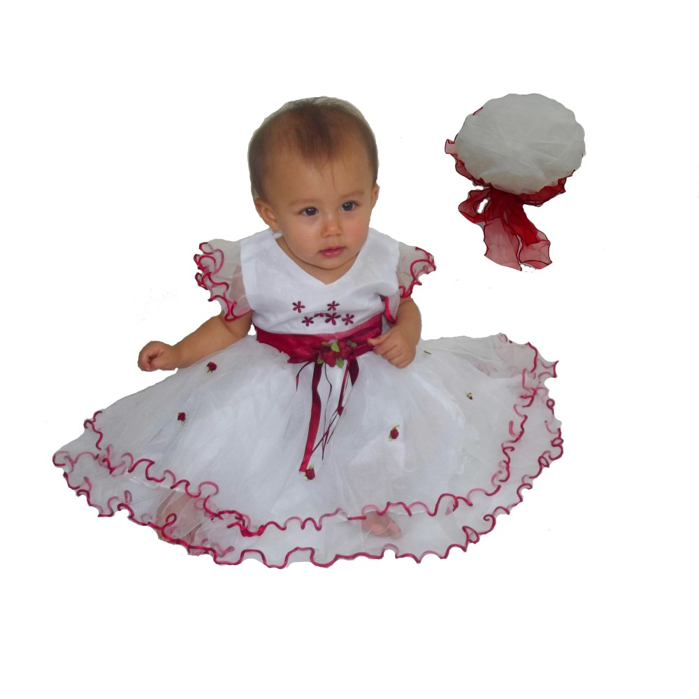 Baby Girls Party Dress with Bonnet 715