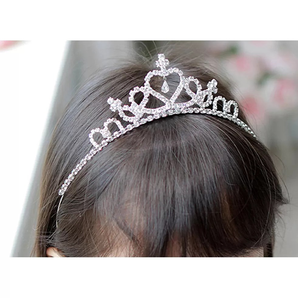 Girls White Prom Party Crown Tiara T67