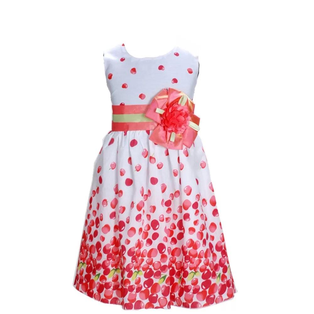 Girls Cherry Pattern Dress