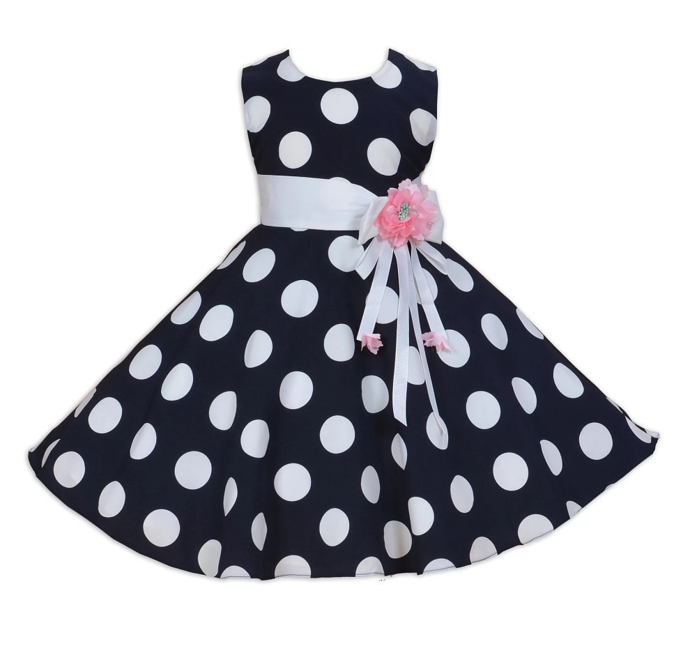 Cinda Blue and White Dotted Dress