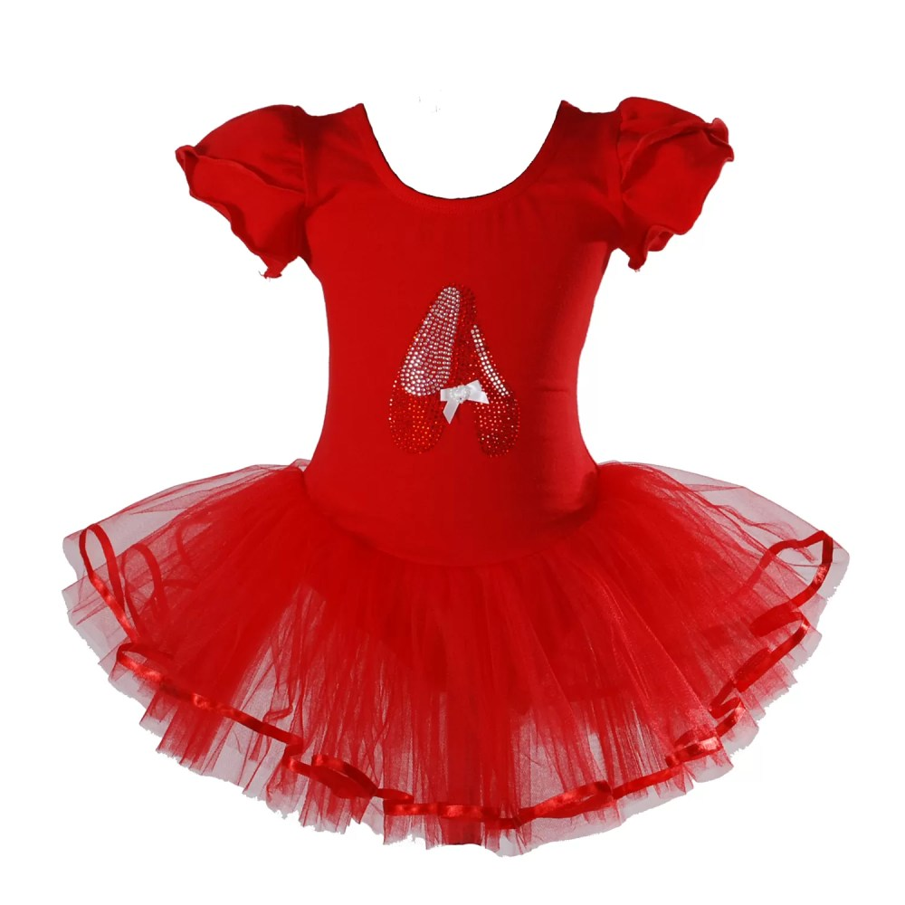 Girls Ballet Dance Tutu Dress Pink Red Ivory Black 3 4 5 6 7 Years