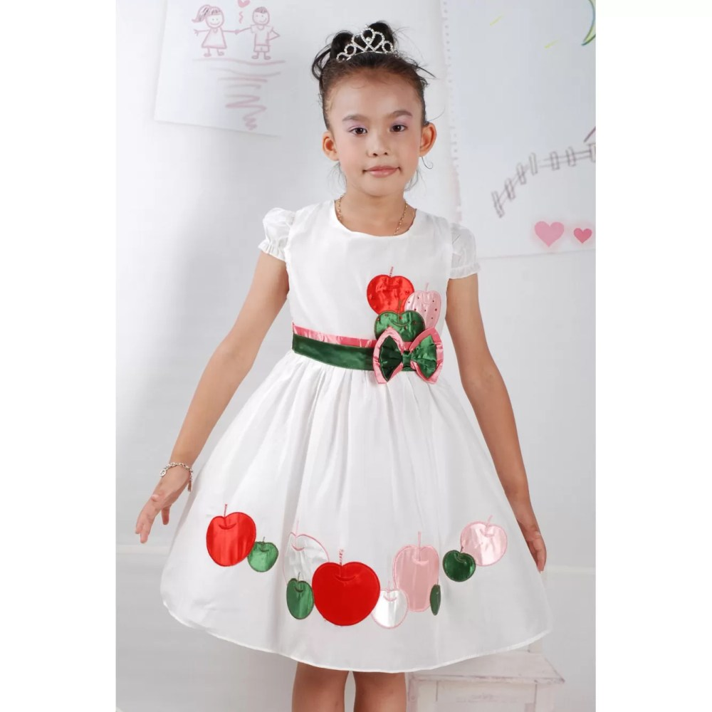 Girl Party Dress Pink White 2 3 4 5 6 Years