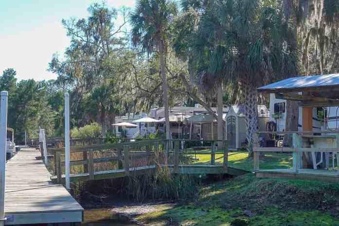 campsites with docks