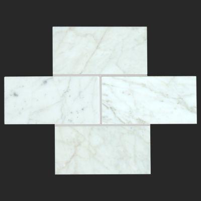 Bianco Carrarra subway tile Honed