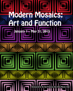 image of a poster for a mosaics exhibit