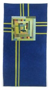 Blue Totem Art Quilt - Cindy Grisdela