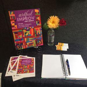 Sign Up Table - Cindy Grisdela Art quilts
