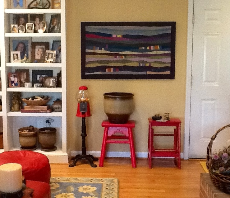 Lavender Garden art quilt in private collection - Cindy Grisdela