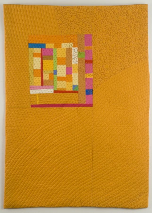 Amber Harvest improv art quilt - Cindy Grisdela