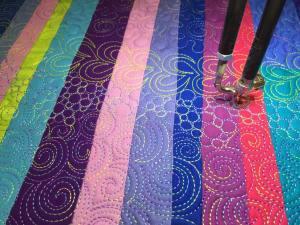 Starry Night detail of stitching - Cindy Grisdela
