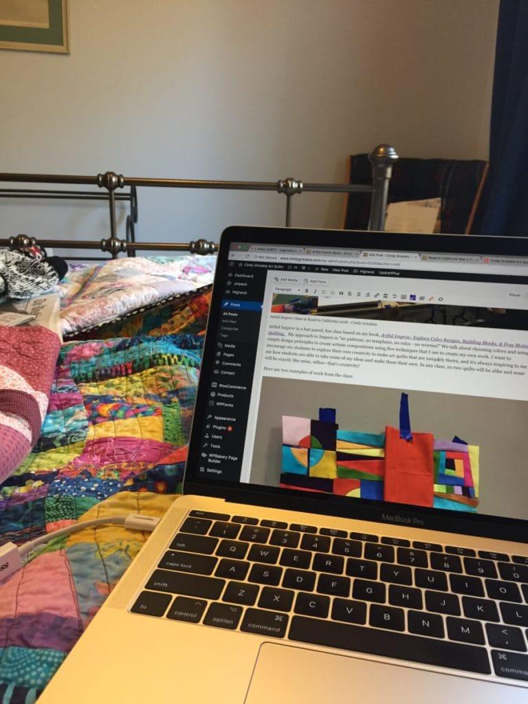 My workspace this week - Cindy Grisdela