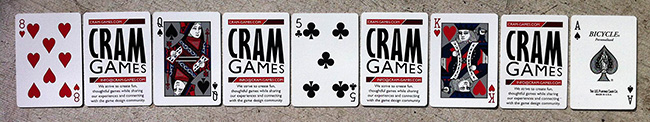 Cram Games business cards
