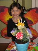 spring bouquet cupcakes