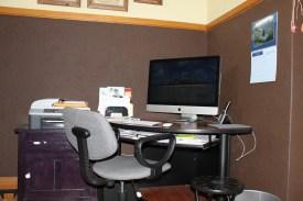 old computer station