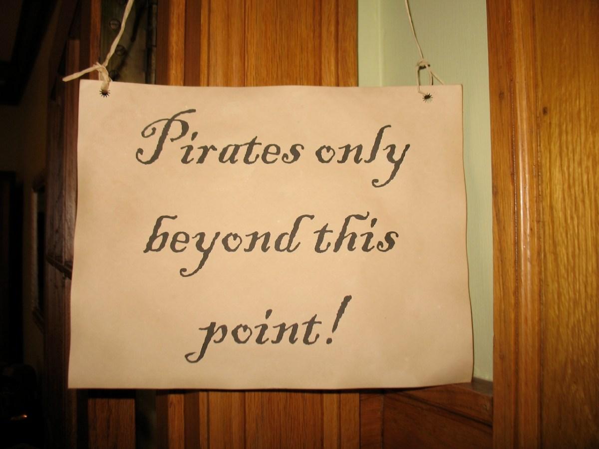 pirate birthday sign