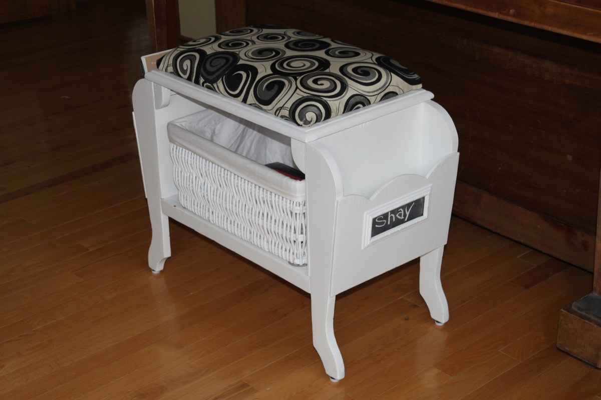 piano bench upcycle