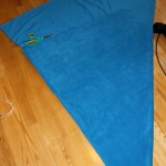 fold fabric into triangle
