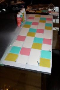 painted faux tiles