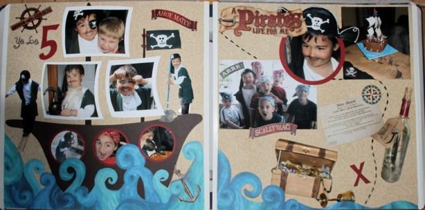 Pirate Birthday Layout