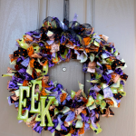 Halloweeen Rag Wreath