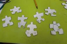 Angel puzzle piece ornament