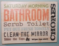 subway art chore sign