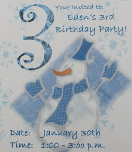 snowman birthday invitation