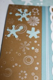 homemade snowflake card