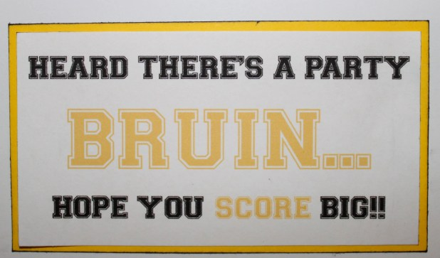 Boston Bruins Card