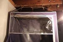 Wardrobe spray tent