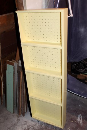 painted storage rack