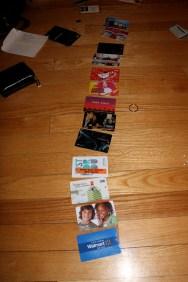 alphabetized gift cards