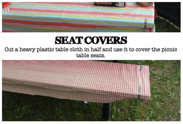 Picnic Table Seat Covers