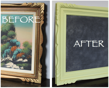 Before and after picture frame.