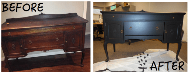 Antique Buffet Before and After