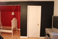 black and red walls