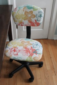 Reupholstered office chair