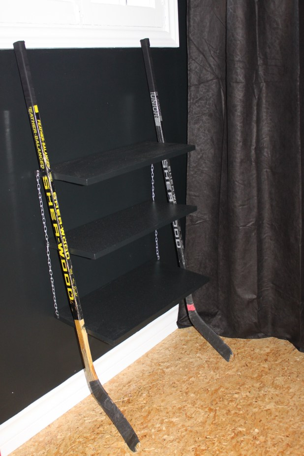 hockey stick shelf