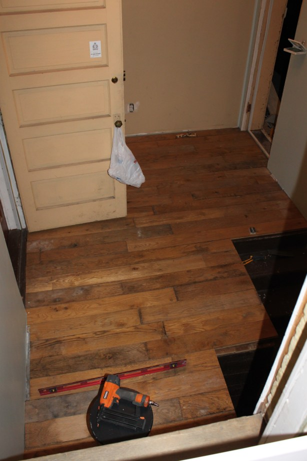 Reclaimed oak floors