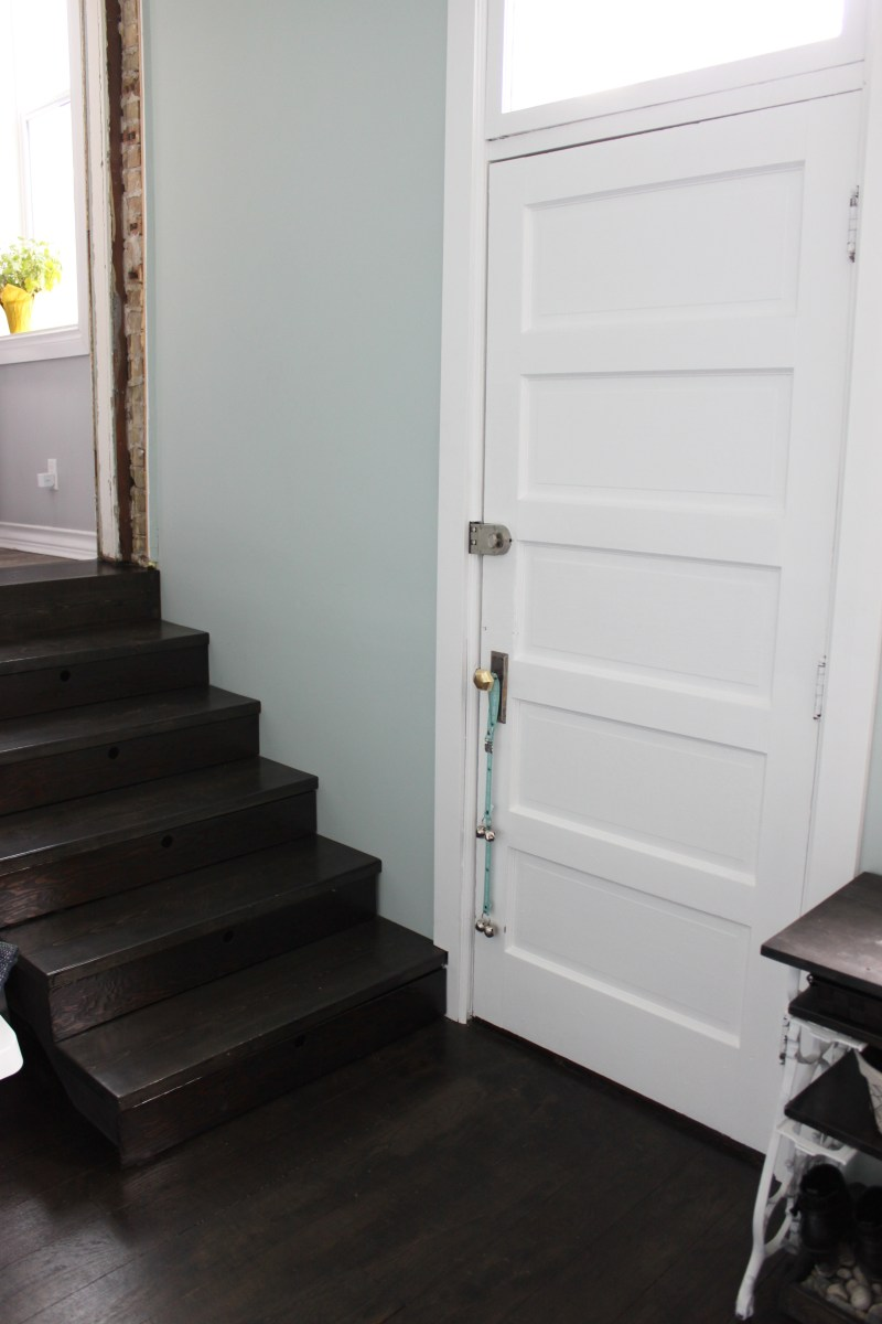 New mudroom stairs