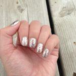 Rose Gold Glitter Holo Nails