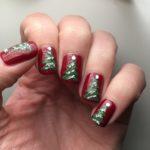 Christmas Tree Nails with Holo