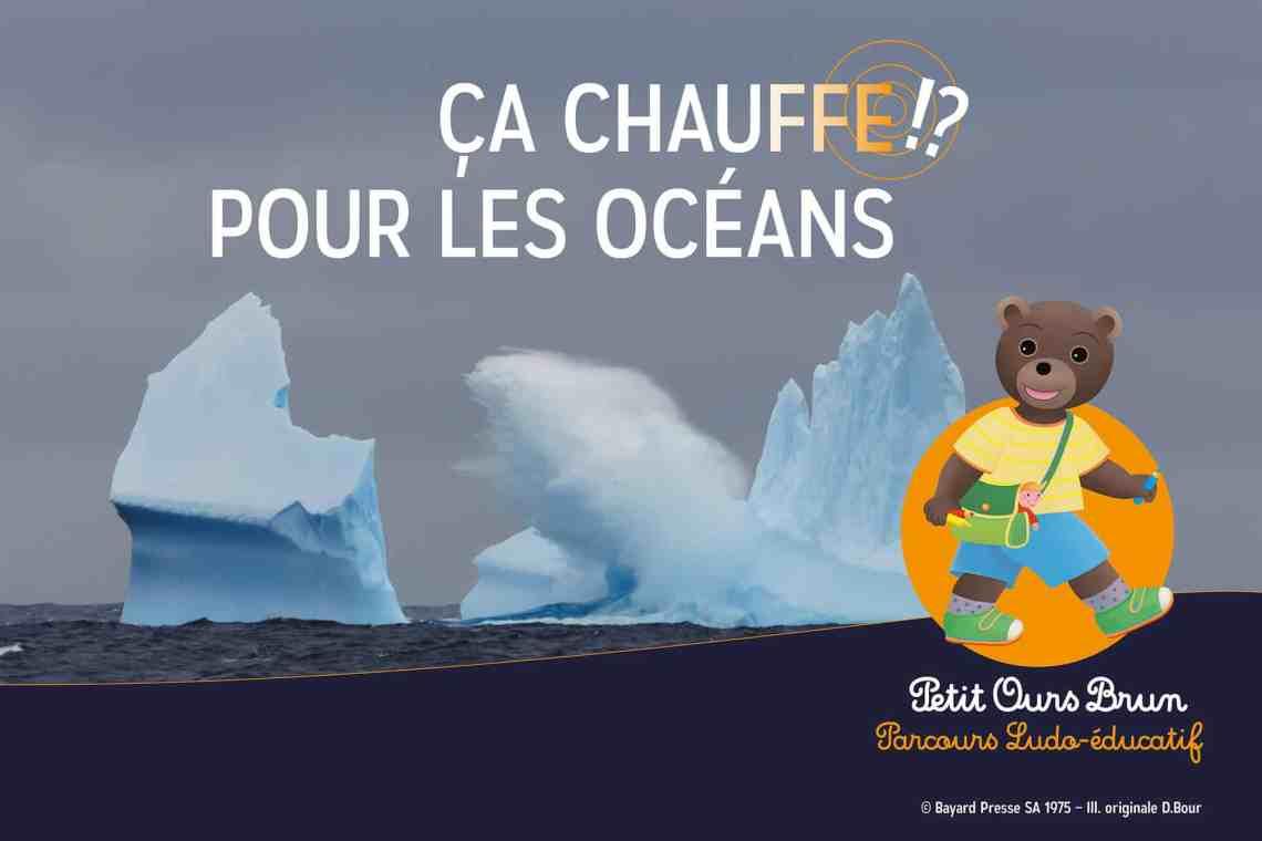 Exposition petit ours brun - ça chauffe pour les océans - Aquarium de Paris