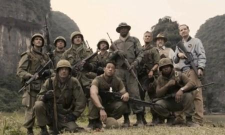 samuel L. Jackson & zijn crew in Kong: Skull Island