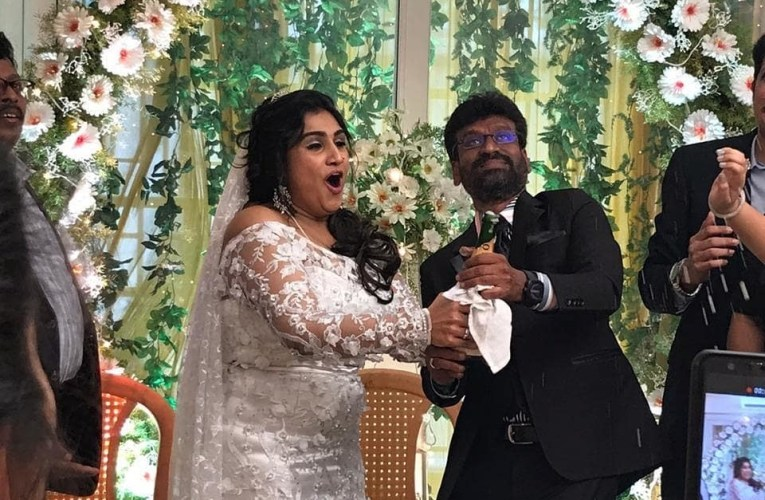 Exclusive Wedding Pictures and Video of Vanitha Vijayakumar & Peter Paul