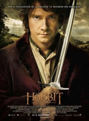 Bilbo Sacquet est entraîné malgré lui dans une quête héroïque pour reprendre le Royaume perdu des nains d'Erebor, conquis longtemps auparavant par le dragon Smaug. Il croise par hasard la route du magicien Gandalf le Gris et rejoint une bande de 13 nains dont le chef n'est autre que le légendaire guerrier Thorin Écu-de-Chêne.  Fim néo-zélandais de Peter Jackson, sorti en France le 12 décembre 2012, avec Martin Freeman, Ian Mckellen, Andy Serkis et Cate Blanchett.  LIRE LA CRITIQUE