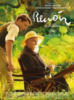 Sur la Côte d'Azur, au crépuscule de sa vie, Auguste Renoir est éprouvé par la perte de son épouse, les douleurs du grand âge, et les mauvaises nouvelles venues du front.  Mais une jeune fille, Andrée, apparue dans sa vie comme un miracle, va insuffler au vieil homme une énergie qu'il n'attendait plus. Éclatante de vitalité, rayonnante de beauté, Andrée sera le dernier modèle du peintre, sa source de jouvence.  Film français de Gilles Bourdos, sorti en France le 2/01/2012, avec Michel Bouquet, Vincent Rottiers, Christa Theret.  LIRE LA CRITIQUE