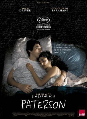 Paterson, New Jersey, la ville des poètes, de William Carlos Williams à Allen Ginsberg, aujourd'hui en décrépitude. Y habite l'homonyme Paterson, chauffeur de bus d'une trentaine d'années. Il mène une vie réglée aux côtés de Laura, qui multiplie projets et expériences avec enthousiasme et de Marvin, bouledogue anglais. Chaque jour, Paterson écrit des poèmes sur un carnet secret qui ne le quitte pas…  Film américain de Jim Jarmusch, sorti en France le 21 décembre 2016 avec Adam Driver, Golshifteh Farahani, Rizwan Manji, Trevor Parham et Barry Shabaka Henley.  LIRE LA CRITIQUE